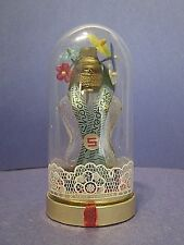 "Vintage Schiaparelli SHOCKING Torso Perfume Bottle w/ Flowers & Dome 3 3/4"" Tall"