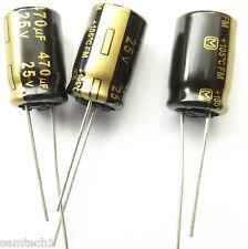 470UF 25V 105c baja ESR tamaño 10mmx16mm Panasonic EEUFM 1E471 x3 un.