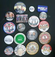 Campaign Button Lot Bush McCain Obama Biden Clinton Gore