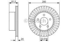 BOSCH Juego de 2 discos freno 280mm ventilado JEEP GRAND CHEROKEE 0 986 479 386