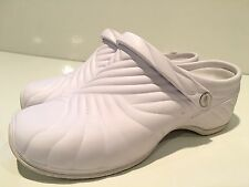 Dickies ZigZag Women's White Medical Nursing Slip Resistant Clogs Shoes Size 11