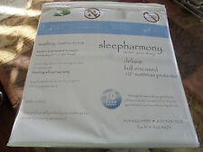 "NEW Sleepharmony 10"" Mattress Pad King Size Protector ANTI-MICROBIAL/WATERPROOF"