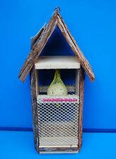 Großes Vogelhaus Vogelhäuschen Vogelvilla Futterhäuschen aus Naturmaterialien