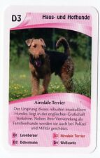 Dogs - Single German Trade Card Airedale Terrier
