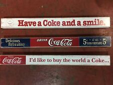 Coca-Cola Wooden Shelf Sitter Collection X 3