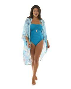 Rosalind Paisley Kimono Beach Dress (Aqua, Two Size)