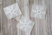 Set of 3 Glitter Snowflake Iron On transfers, snowflake iron on, christmas iron