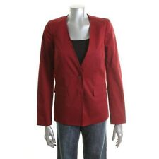 Famous Catalog Red Lace Back Long Sleeves One-Button Blazer Jacket - NEW