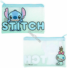 LILO STITCH SCRUMP Frosted Clear Pencil Case Cosmetic Tote Bag Disney Loungefly