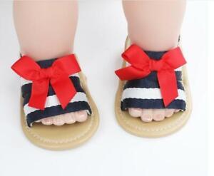 Fashion Newborn Baby Girls Pram Shoes Infant Child BowKnot Summer Sandals 0-12 M