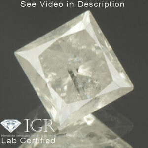 0.90 cts. CERTIFIED Princess Brilliant Cut White-H Loose Natural Diamond 24147