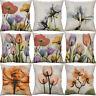 """18"""" Flower painting Cotton Linen Pillow Case Decorative Cushion Cover Home Décor"""