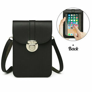 Ladies Touchable Mobile Phone Faux Leather Change Bag Cross Body Shoulder Bag
