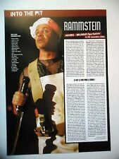 COUPURE DE PRESSE-CLIPPING :  RAMMSTEIN  12/2004 Live Report Anvers,Belgique