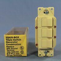 Eagle Ivory Combination 1-Pole Decorator TRIPLE Rocker Switch 15A 3283V OLDSTYLE