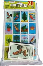 Loteria Mexicana Family Set of 20 Boards and Cards NEW Bingo Gacela El Borracho