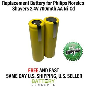 Philips Norelco 5842XL Battery 2.4V 700mAh AA NiCd Electric Razor/Shaver Battery