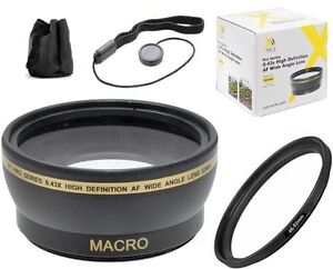52mm Wide Angle Lens Kit for Fujifilm Finepix S5800 S5700 S700