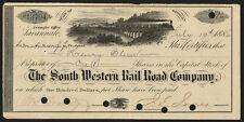 USA: South Western Rail Road Co., $100 shares, Savannah, 1886