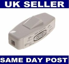White Torpedo Inline Through Switch 6Amp Double Pole 250V UK SELLER BULK STOCK