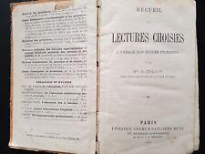 Recueil de lectures choisies.... livre scolaire, 1882