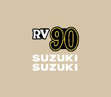 SUZUKI RV 90 MOTORRAD BLAU AUFKLEBER