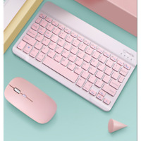2.4GHz Bluetooth Keyboard Mouse Comb Set for iPad  10inch pink