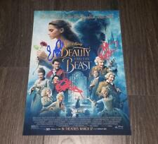 """BEAUTY AND THE BEAST PP SIGNED PHOTO POSTER A4 12X8"""" EMMA WATSON LUKE EVANS"""