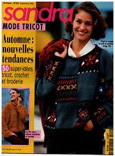 ▬► SANDRA  122 / SEPTEMBRE 1994 MODE  TRICOT FEMMES ENFANTS HOMMES AUTOMNE