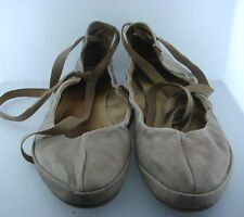 PATAUGAS 38 BALLET FLATS WRAP AROUND ANKLE LEATHER SOFT SHOES