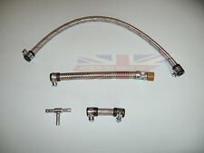 New Flex Flexi Metal Braided Fuel Line Kit for MGB 1963-1969 Made in UK
