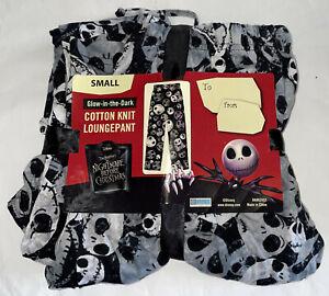 Disney Nightmare Before Christmas Pajamas JACK GLOW IN DARK MENS LOUNGE PANT S