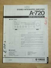 Yamaha Service Manual for the A-720 Amplifier Amp   mp