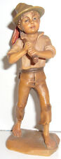 """Anri Running Away wood carving figure about 5-1/4"""" tall very good condition"""