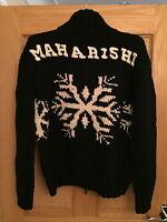 MAHARISHI MENS BLACK TOUR KNIT CARDIGAN!!!