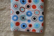 Cudlie Baby Blanket Flannel Receiving Circle Polka Dot White Blue Red Black