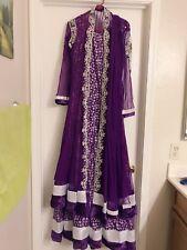Anarkali Purple Bollywood Dress Indian Designer Ethnic Suit Party Wear