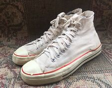 Rare 80's Canvas Basketball Hi -Top Sneakers Made In Usa Size Usa 8.5 | Uk 7.5