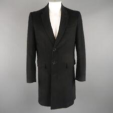 FILIPPA K 42 Black Solid Moleskin Notch Lapel Car Coat