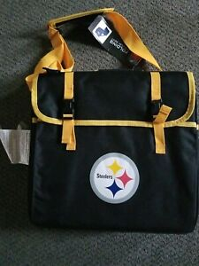 Pittsburgh Steelers NFL Folding Stadium Seat with Logo Cushion And Cup Holder