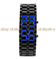 Lava Style Iron Samurai Bracelet Japanese Inspired LED Digital Sport Wrist Watch