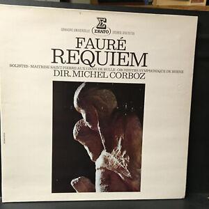 Erato STU 70735 FAURE Requiem Michel CORBOZ LP Record France Import Classical