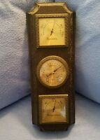 Faux Brown Wood Taylor Instrument Co Humidity Temperature THERMOMETER 1970's
