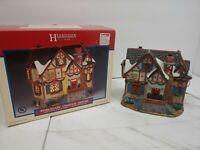 Hearthside Village Porcelain Lighted Rose Creek Cottage House Christmas Lemax