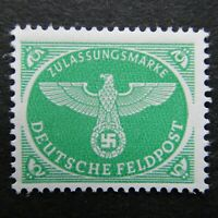 Germany Nazi 1944 Stamp MNH Emblem bright green Swastika Eagle WWII 3rd Reich Ge