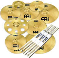 Meinl Cymbals HCS-SCS1 Ultimate Cymbal Beckenset + keepdrum Drumsticks 3 Paar