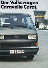 VW VOLKSWAGEN BUS CARAVELLE CARAT T3 Prospekt Brochure 1985 73