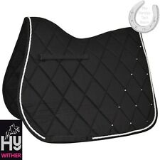 HyWITHER Diamond Saddle Pad – BLACK – COB/FULL size – Gorgeous Numnah – FREE P&P