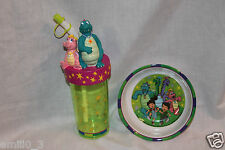 NEW DRAGON TALES AND FREINDS  BOTTLE CUP AND BOWL SET DINNERWARE