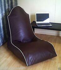 Faux Leather Beanbag Computer Gaming Chair Bean Bag Waterproof Fabric Wipe Clean